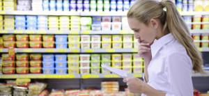 lista de compras no supermecado